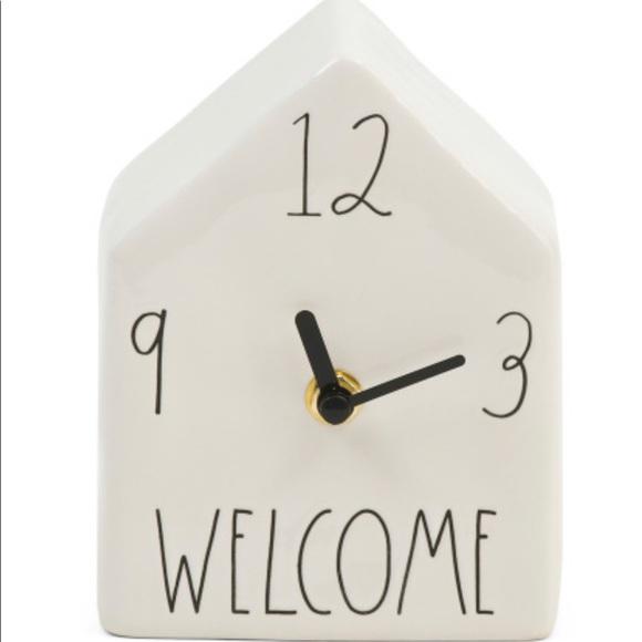 Rae Dunn Welcome ceramic clock